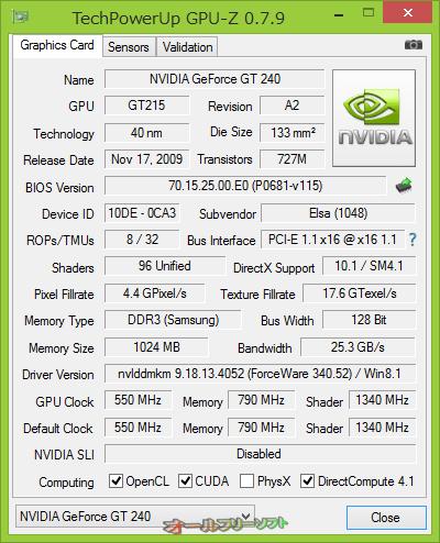 NVIDIA GeForce GTX 780(6 GB)をサポートしたGPU-Z 0.7.9