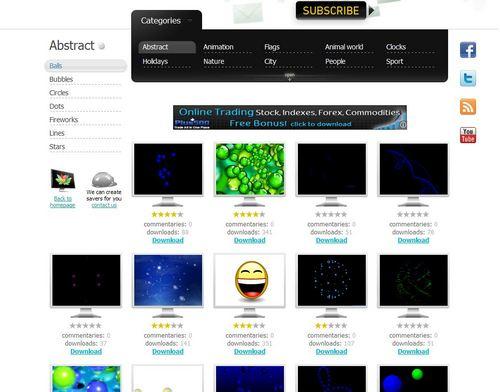 スクリーンセーバーが無料でダウンロードできる「NewFreeScreensavers.com」2.jpg