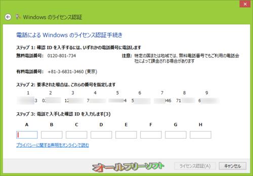 オンラインでライセンス認証ができない時の対処法(Windows 8)
