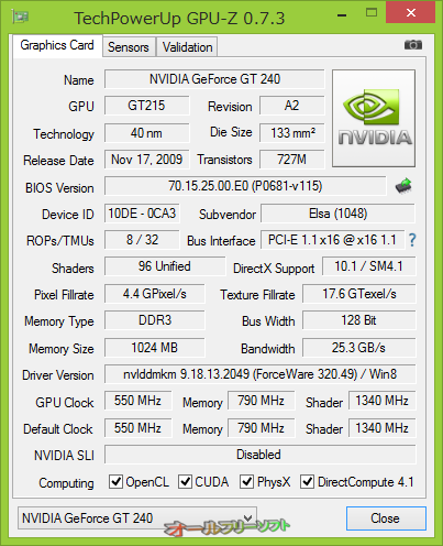 NVIDIA GeForce GTX 770M、AMD Radeon HD 8570G等をサポートしたGPU-Z 0.7.3