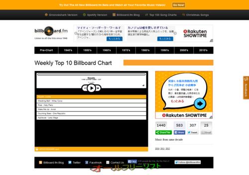 年代別の洋楽ヒット曲が聴ける「Billboard.fm」
