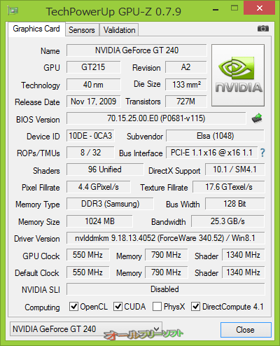 NVIDIA GeForce GTX 780(6 GB)をサポートしたGPU-Z 0.7.9
