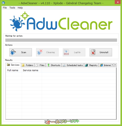 AdwCleaner が日本語で使えなくなりました。