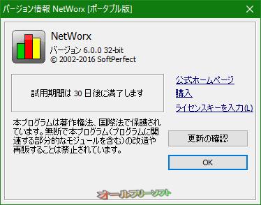 NetWorxが30日間のトライアル版になりました。