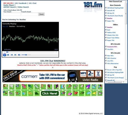 無料で音楽を聴こう! インターネットラジオ「181.FM」2