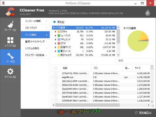 ディスク解析ツールが追加されたCCleaner 5.01.5075